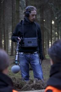 Jef, unser Sound-Män - hier als Set-Tonmeister beim Shoot von 'Der kleine 5-Minuten-Mord'