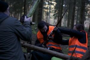 Das Team bei der Arbeit: Kampfszenen-Shoot 'Der kleine 5-Minuten-Mord'